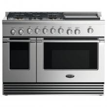 DCS 48-Inch Professional 5-Burner Dual-Fuel Natural Gas Range With Griddle - RDV2-485GD-N image