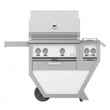 Hestan Deluxe 30-Inch Freestanding Natural Gas Grill W/ Rotisserie & Double Side Burner - Froth - GABR30CX2-NG-WH image