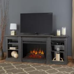 Real Flame Eliot Grand 81-Inch Electric Fireplace Entertainment Center - Antique Gray - 1290E-AGR image