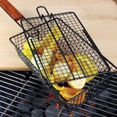 Non-Stick BBQ Shaker Basket With Lid