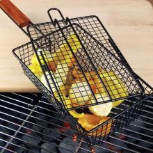 Non-Stick BBQ Shaker Basket With Lid Charcoal Companion Non-Stick BBQ Shaker Basket With Lid