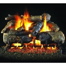 Charred American Oak Peterson Real Fyre Vented Set
