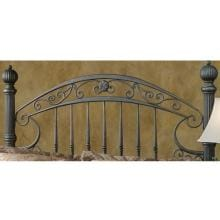 Hillsdale Chesapeake Rustic Brown Metal Post Headboard Without Frame - Queen - 1335HQ