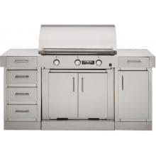 TEC Sterling G3000 FR 36-Inch Infrared Grill On Cabinet With Door And Drawers - G3NTFRCB SGDWM SGDM