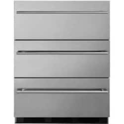 Summit Commercial 24-Inch 3.1 Cu. Ft. Outdoor Rated Refrigerator Drawers - Stainless Steel - SP6DSSTBOS7THIN image