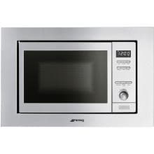 Thumbnail for Smeg 24-Inch Built-In Microwave - Stainless Steel - MI20XU