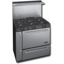 Premier Pro Series P36S338BP 36 Inch Gas Range With Electronic Ignition And 6 Sealed Burners 22 Inch Stainless Back-guard - Stainless Steel