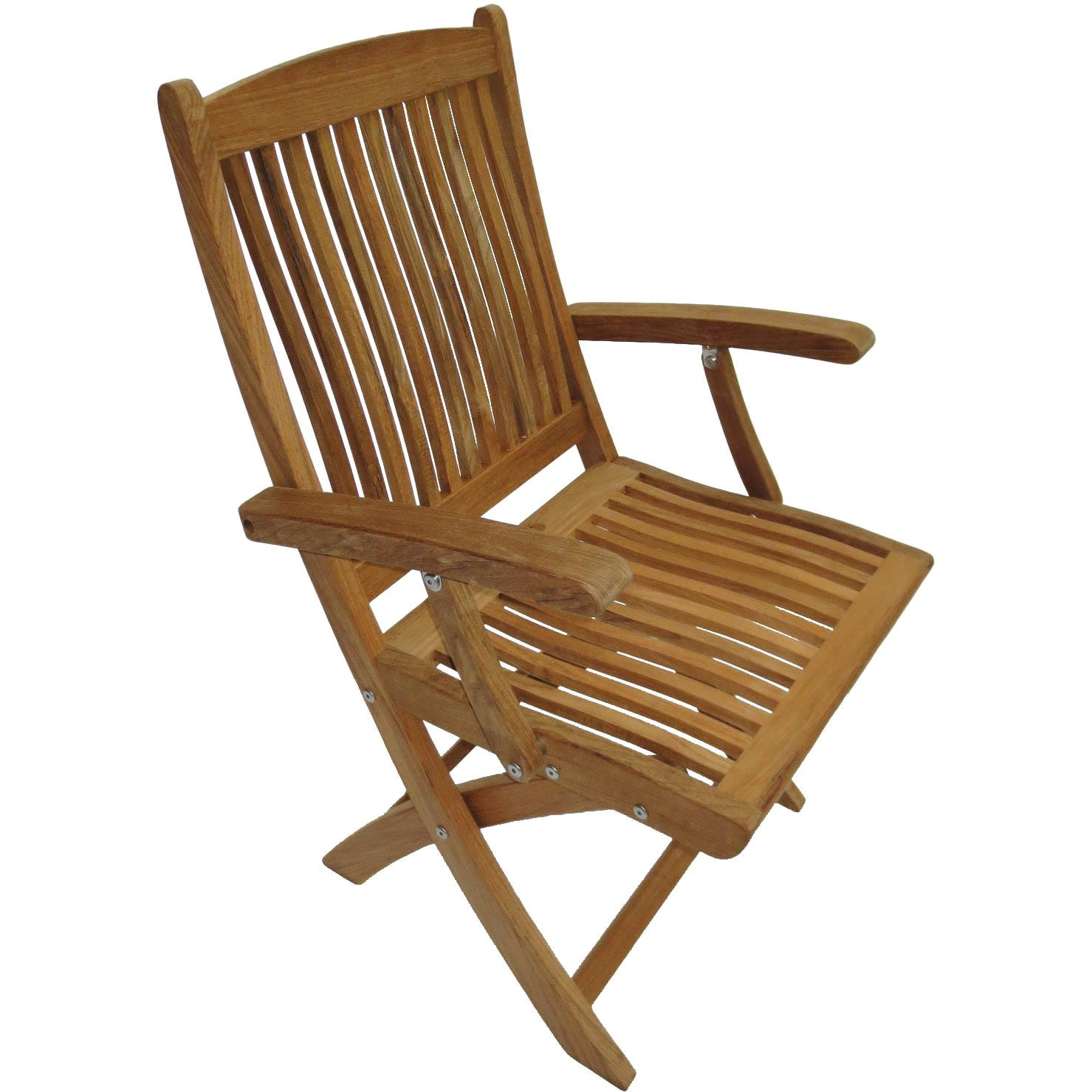 Sailor Teak Folding Dining Arm Chair By Royal Teak Collection