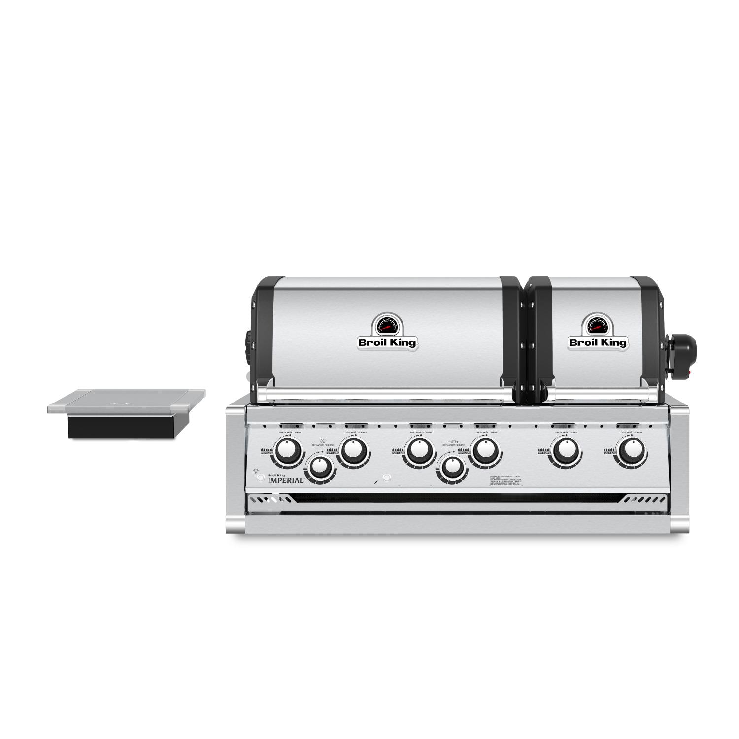 Broil King  Imperial XLS 6-Burner Built-In Propane Gas Grill With Rotisserie and Side Burner - Stainless Steel - 957084