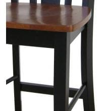 International Concepts Dining Essentials Shaker Styled Dining Set - T57-3048GS S57-102 (4) Chair Seat Detail