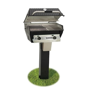 Broilmaster R3BN Infrared Combination Natural Gas Grill On Black In-Ground Post image