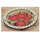 Old Dutch Hand Painted Apple Round Trivet