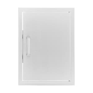 BBQGuys Sonoma Series 21-Inch Stainless Steel Reversible Single Access Door - Vertical image