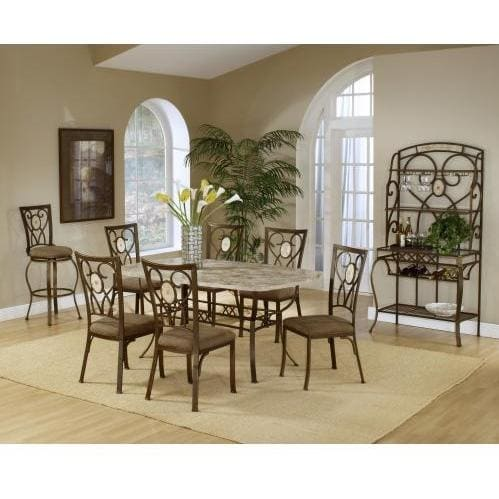 Hillsdale Brookside 7-piece Rectangle Dining Set With Oval Back Chairs - Brown - 4815dtbcov7