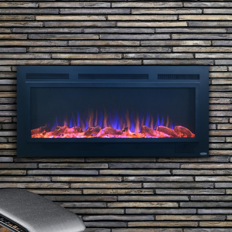 Awe Inspiring Touchstone Home Products Sideline 50 Inch Wall Mount Flush Mount Electric Fireplace With Steel Surround 80013 Download Free Architecture Designs Scobabritishbridgeorg