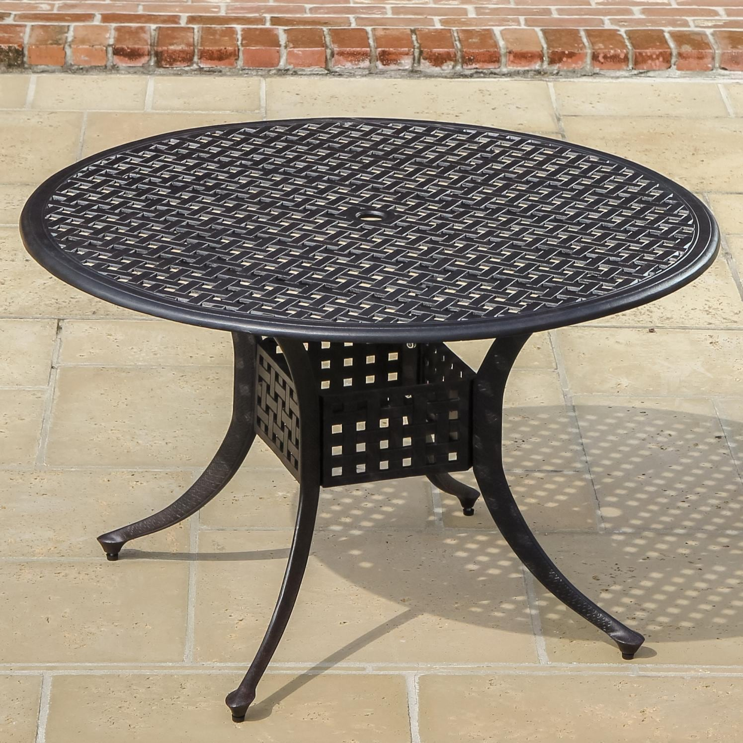 round table by lakeview outdoor designs 48 inch cast aluminum patio