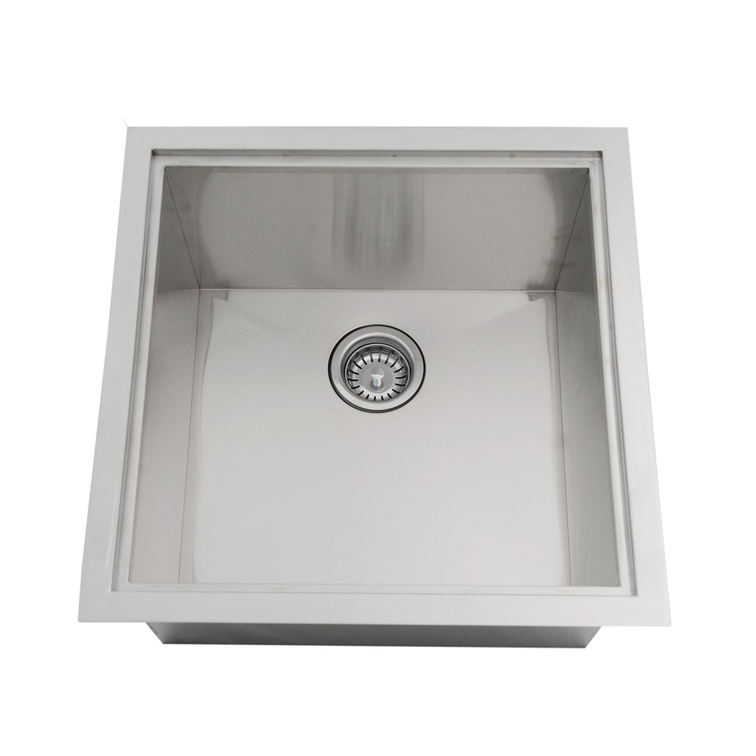 Sunstone Dual Mount 20 Inch Outdoor Rated Single Basin Sink With Cover    B SK20 : BBQGuys