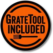 GrillGrate 17.375-Inch Hard Anodized Aluminum 2-Panel Grill Surface Set With Grate Tool GrillGrate GrateTool Included