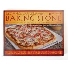 15 X 12-Inch Pizza Stone With Wire Frame 15-Inch Rectangular Pizza Stone With Wire Frame Packaging