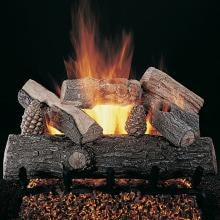 Rasmussen 12-Inch Lone Star Gas Log Set With Vented Natural Gas Flaming Ember XTRA Burner - Match Light