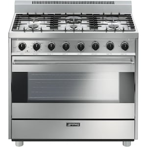 Smeg Classic 36-Inch 6-Burner Natural Gas Range - Stainless Steel - C36GGXU image