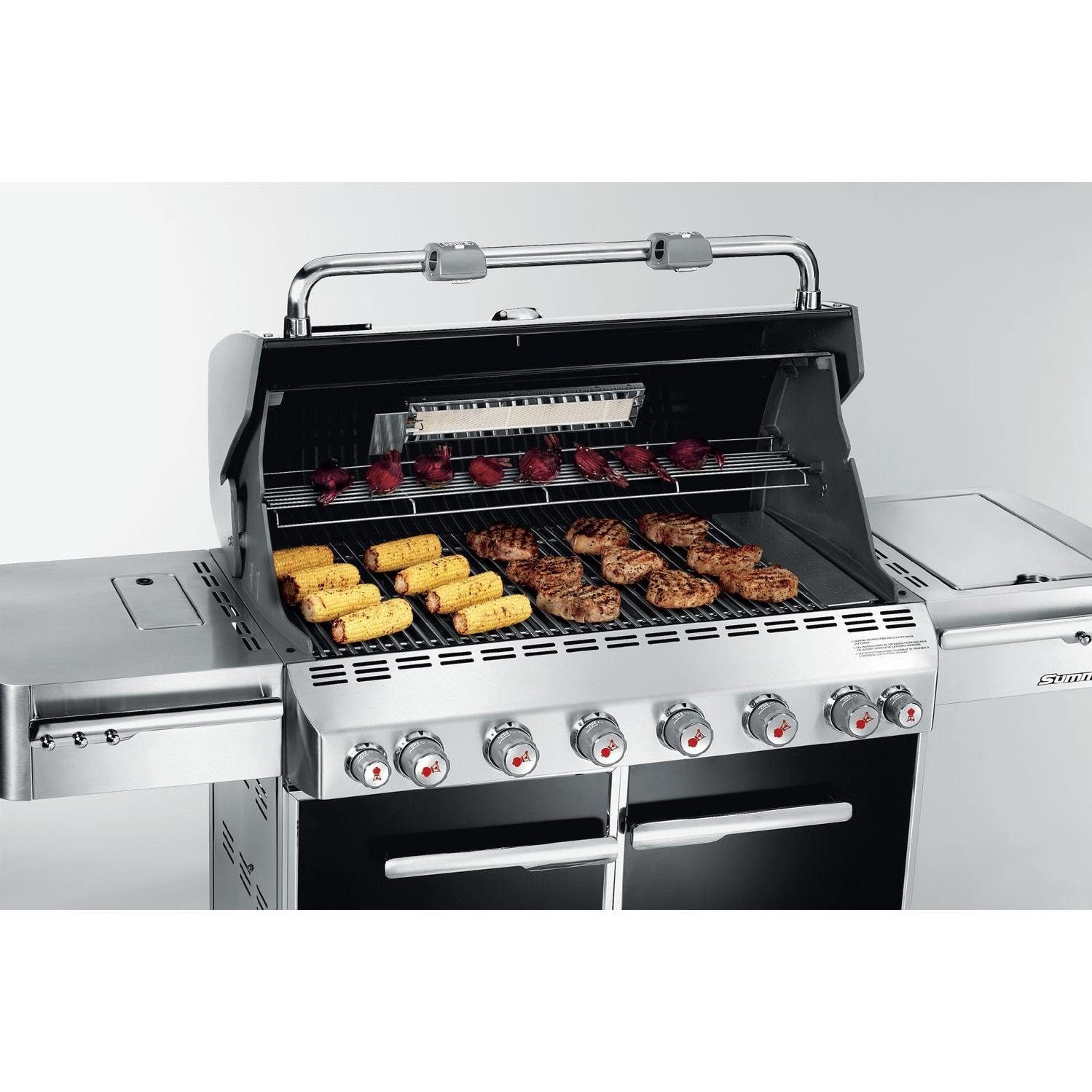 weber gas grills summit e 650 propane gas bbq grill w. Black Bedroom Furniture Sets. Home Design Ideas