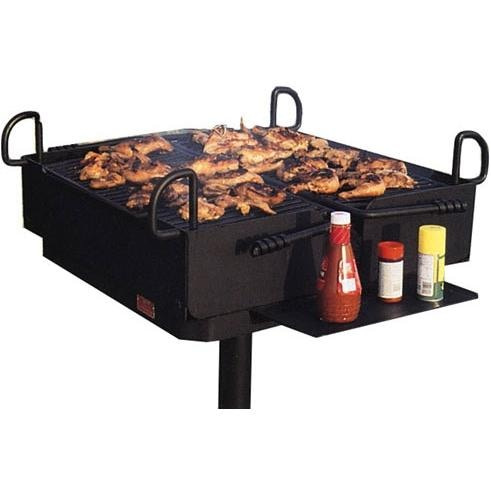 Commercial-Grade Multi-User Charcoal Grills
