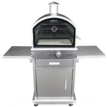 HomComfort Stainless Steel Outdoor Pizza Oven On Cart - Propane - HCP16SS HomeComfort Stainless Steel Outdoor Pizza Oven On Cart - Propane - HCP16SS - Front