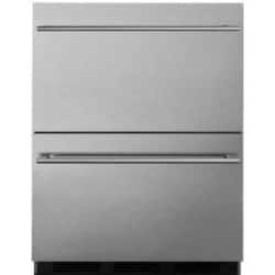Summit Commercial 24-Inch 3.1 Cu. Ft. Double Drawer Refrigerator - Stainless Steel - SP6DS2D7 image