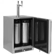 Lynx 24-Inch 5.3 Cu. Ft. Right Hinge Outdoor Rated Double Tap Refrigerator / Kegerator - LM24BFR image