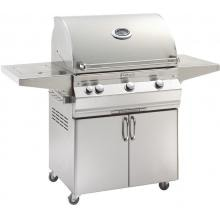 Fire Magic Aurora A660s 30-Inch Freestanding Natural Gas Grill With One Infrared Burner, Analog Thermometer And Single Side Burner - A660s-5LAN-62 Fire Magic Aurora A660s 30 Inch Freestanding Grill