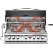 Cal Flame 40-Inch 5 Burner Convection Built-In Propane Gas Grill With Rotisserie