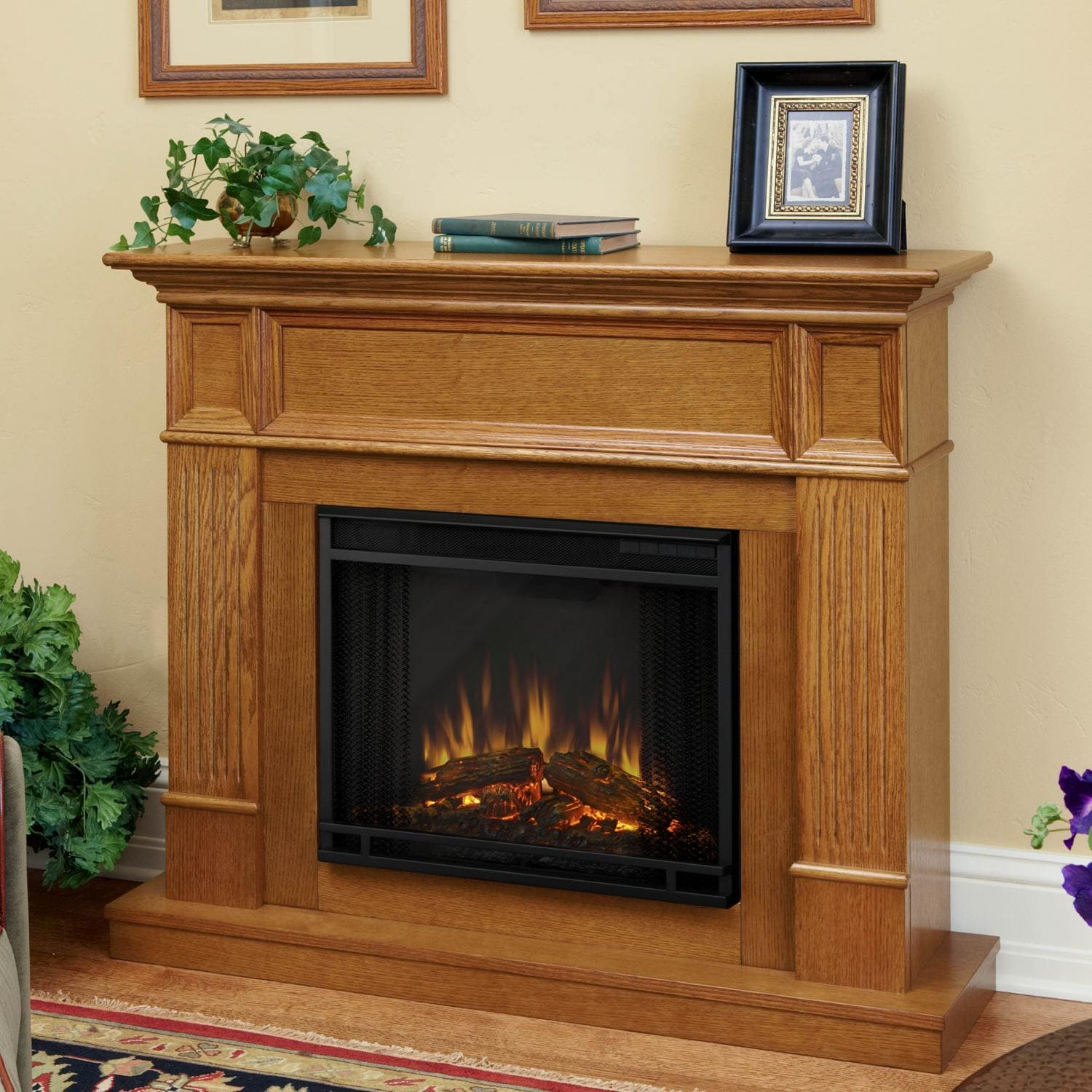 Real Flame Camden 45 Inch Electric Fireplace Light Oak