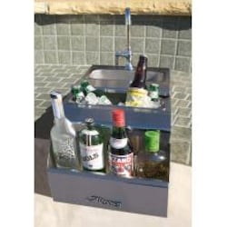 Alfresco 14-Inch Built-in Bartender Center With Sink image