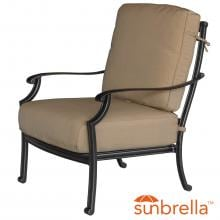 Bocage Cast Aluminum Patio Club Chair W/ Sunbrella Heather Beige Cushions By Lakeview Outdoor Designs Bocage Cast Aluminum Patio Club Chair W/ Sunbrella Heather Beige Cushions By Lakeview Outdoor Designs