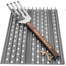 GrillGrate 2-Panel Replacement Grill Grate Set For Weber Genesis Gas Grills With Grate Tool image