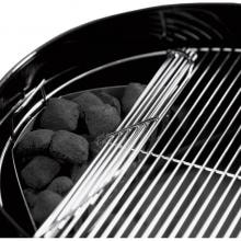 Weber Original Kettle Premium 22-Inch Charcoal Grill - Green Weber Original Premium Kettle 22 Inch Charcoal Grill - Hinged Cooking Grate (Shown With Black Grill)