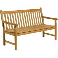 Oxford Garden Classic 3-Person Wood Patio Bench
