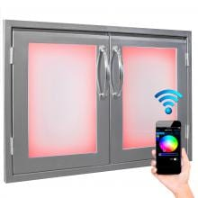 Luxor Illuminated LED 30-Inch Double Access Door - AHT-IL-AD-30 image