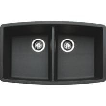 Blanco Performa 33 X 20 Silgranit II Equal Double Bowl Undermount Sink - Anthracite - 440069 image