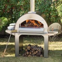 Alfa Forno 4 Wood Burning Pizza Oven On Cart