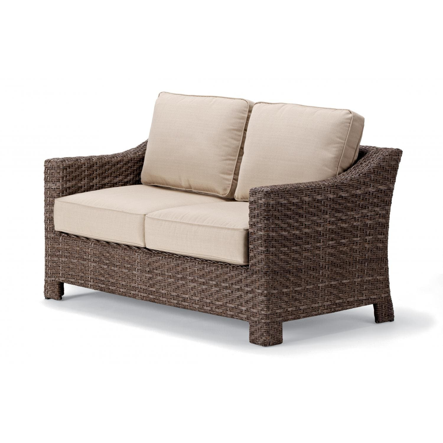Superieur Lake Shore Wicker Patio Loveseat By Telescope Casual   Driftwood/Linen  Champagne : Ultimate Patio