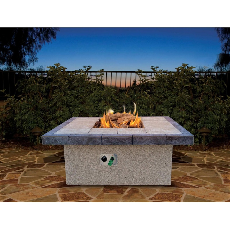 48 Inch Natural Gas Fire Pit Table By Cal Flame Square Coffee Height Bbq Guys