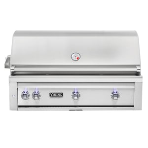 Viking Professional 5 Series 42-Inch Built-In Natural Gas Grill With One Infrared Burner And Rotisserie - VQGI5421NSS image