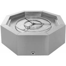 Alpine Flame 42-Inch Stainless Steel Octagon Fire Pit - Natural Gas BBQGuys.com 42-Inch Stainless Steel Octagon Fire Pit - Top View