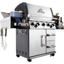 Broil King Imperial 590 5-Burner Freestanding Propane Gas Grill With Rotisserie & Side Burner - Stainless Steel Broil King Imperial 590 5-Burner Freestanding Gas Grill - Alternate View