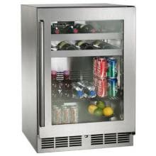 Perlick Signature Series 24-Inch 5.2 Cu. Ft. Right Hinge Outdoor Rated Beverage Center - HP24BO-3-3R Perlick S-Series 5.2 Cu. Ft. Right Hinge Built-In Outdoor Beverage Center - Stainless Steel - HP24BO-3-3R