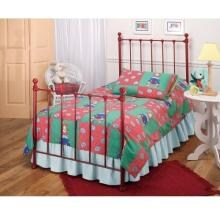 Hillsdale Molly Red Metal Bed Set With Frame And Trundle - Twin - 1087BTWHTR image