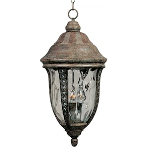 Maxim Whittier DC Three Light 25-Inch Outdoor Hanging Lantern - Earth Tone - 3111WGET image