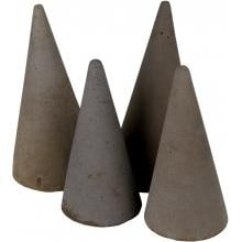 Peterson Real Fyre Decorative Geo Shapes Slate Cone Set - Set Of 4 image